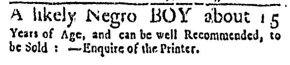 May 28 - Massachusetts Gazette Slavery 1