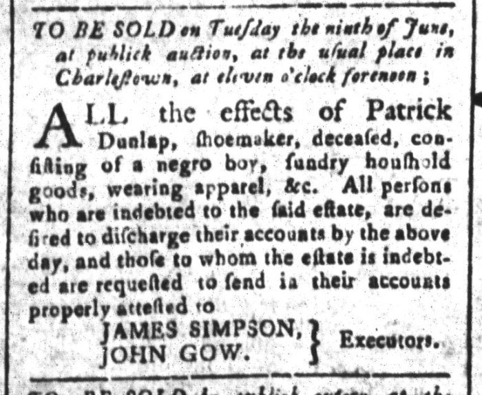 May 29 - South-Carolina and American General Gazette Slavery 10