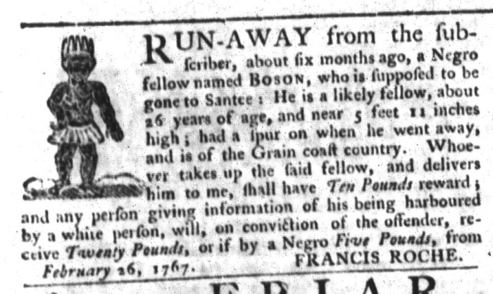 May 5 - South-Carolina Gazette and Country Journal Supplement Slavery 9