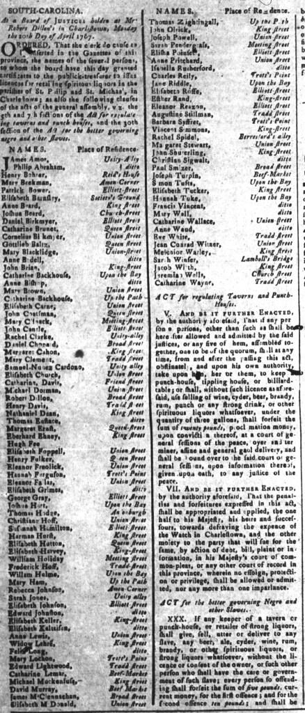 May 8 - South-Carolina and American General Gazette Slavery 8A