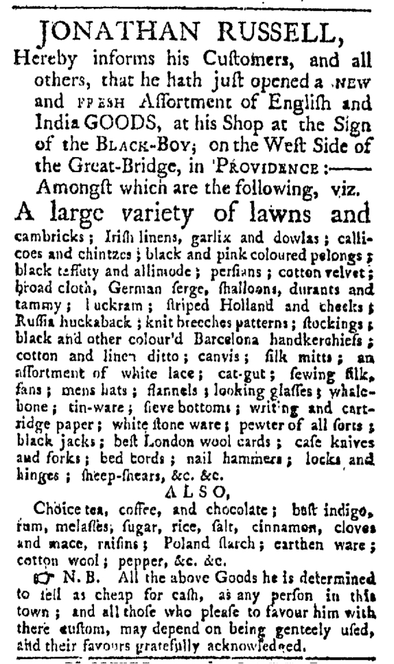 May 9 - 5:9:1767 Providence Gazette