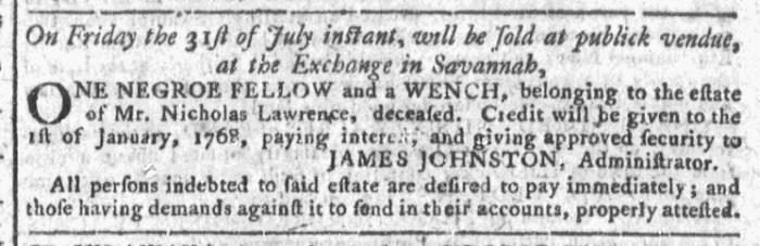 Jul 1 - Georgia Gazette Slavery 4