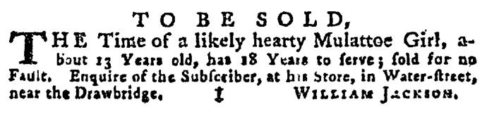 Jul 16 - Pennsylvania Gazette Supplement Slavery 2