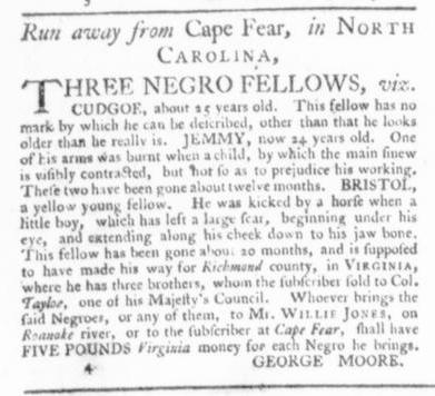 Jul 16 - Virginia Gazette Slavery 1
