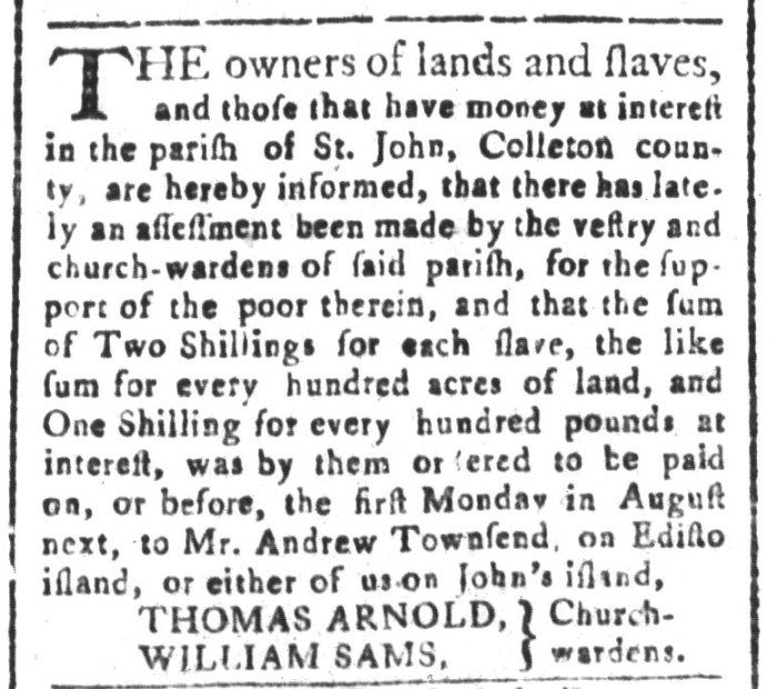 Jul 17 - South-Carolina and American General Gazette Slavery 1