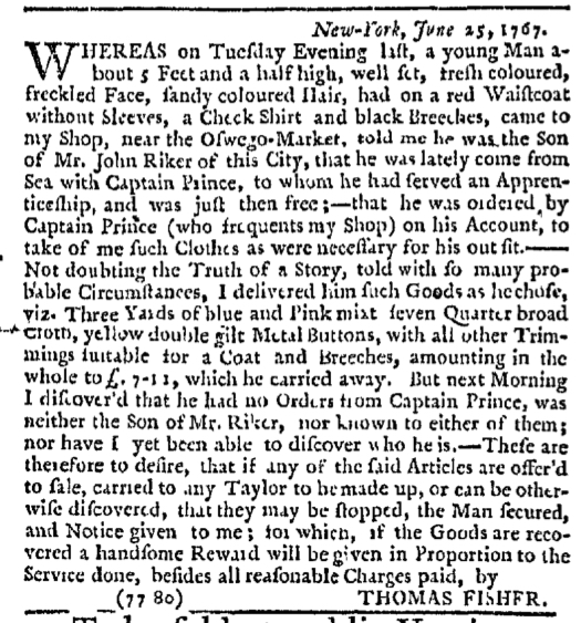 Jul 5 - 7:2:1767 New-York Journal
