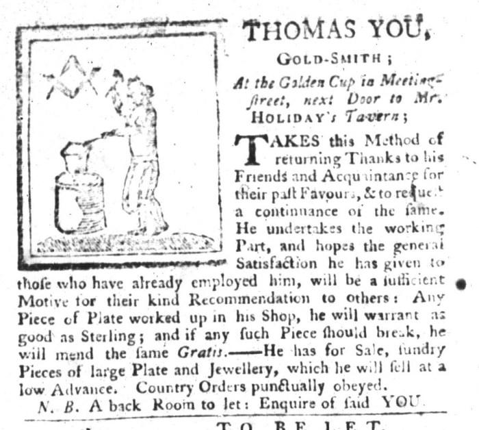 Jul 7 - 7:7:1767 South-Carolina Gazette and Country Journal