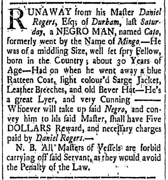 Jun 12 - New-Hampshire Gazette Slavery 1