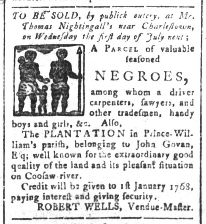 Jun 12 - South-Carolina and American General Gazette Slavery 1