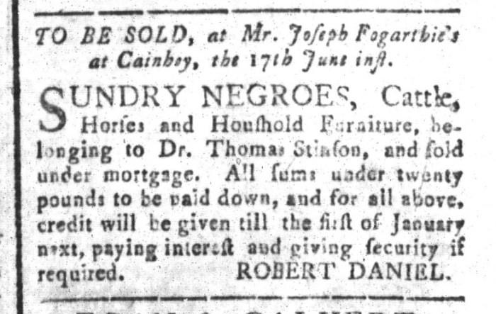 Jun 12 - South-Carolina and American General Gazette Slavery 2