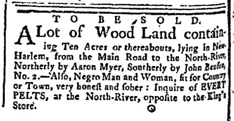 Jun 15 - New-York Gazette Slavery 2