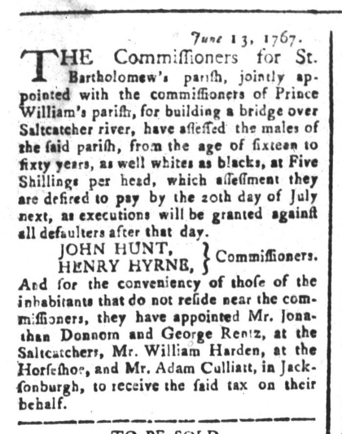 Jun 19 - South-Carolina and American General Gazette Slavery 1