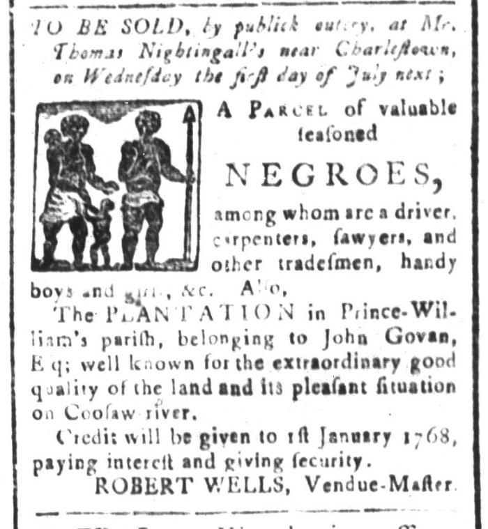 Jun 19 - South-Carolina and American General Gazette Slavery 2