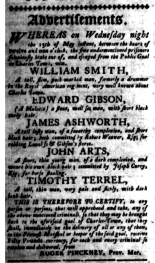 Jun 22 - South Carolina Gazette Slavery 2