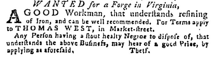 Jun 25 - Pennsylvania Gazette Supplement Slavery 2