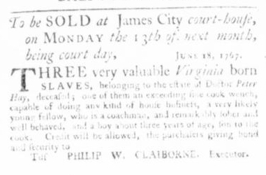 Jun 25 - Virginia Gazette Slavery 2