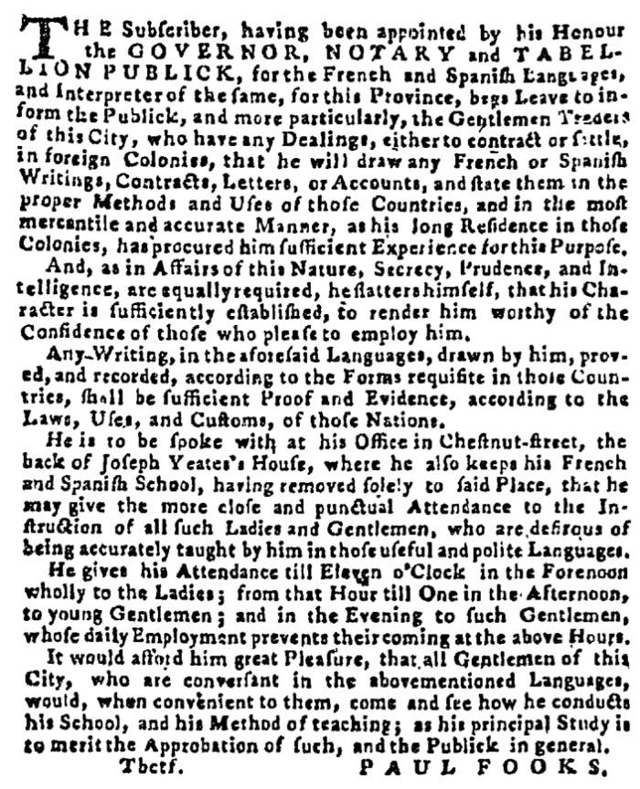 Jun 7 - 6:4:1767 Pennsylvania Gazette