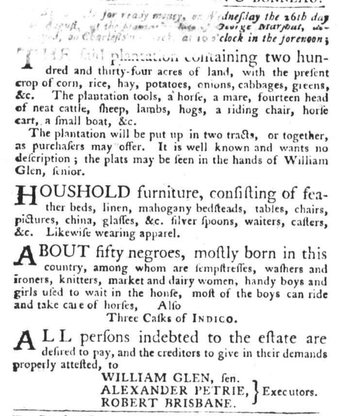 Aug 4 - South-Carolina Gazette and Country Journal Slavery 2