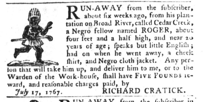 Jul 28 - South-Carolina Gazette and Country Journal Slavery 10