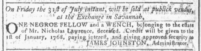 Jul 29 - Georgia Gazette Slavery 4