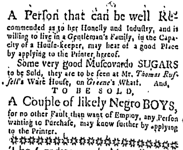 Jul 30 - Massachusetts Gazette Slavery 1