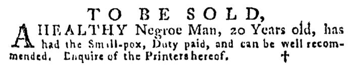 Jul 30 - Pennsylvania Gazette Supplement Slavery 1