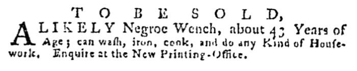 Jul 30 - Pennsylvania Gazette Supplement Slavery 2