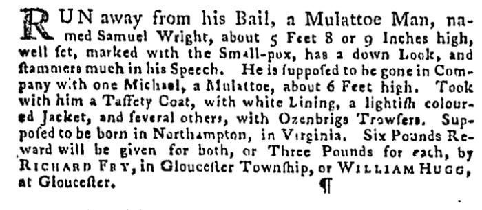 Jul 30 - Pennsylvania Gazette Supplement Slavery 3