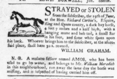 Jul 30 - Virginia Gazette Slavery Slavery 4