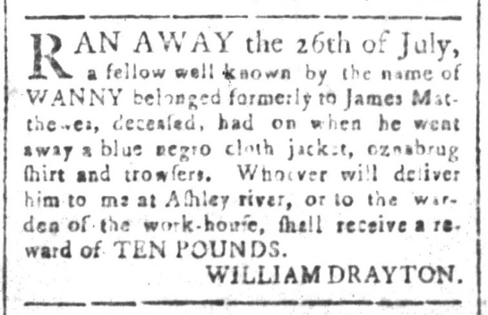 Jul 31 - South-Carolina and American General Gazette Slavery 1