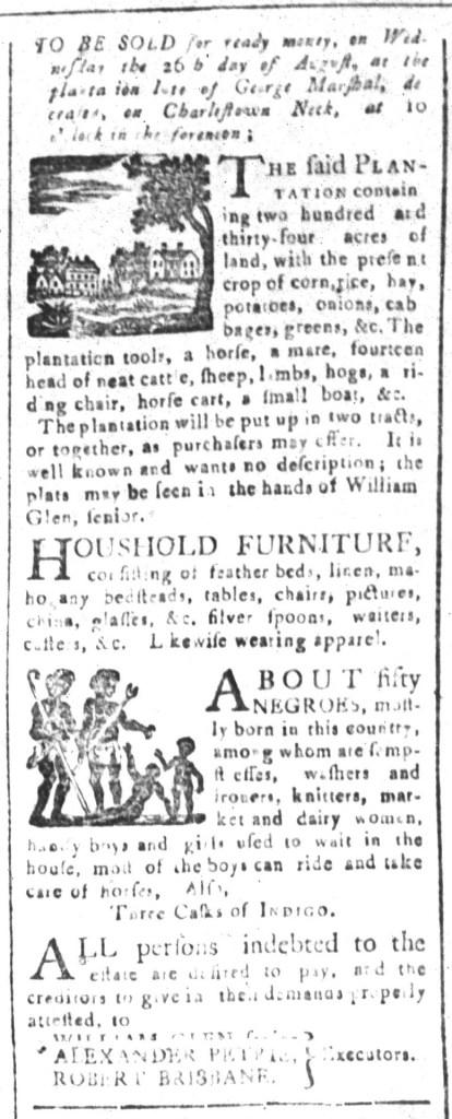 Jul 31 - South-Carolina and American General Gazette Slavery 2