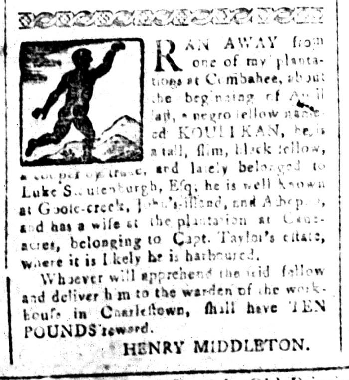 Jul 31 - South-Carolina and American General Gazette Slavery 7