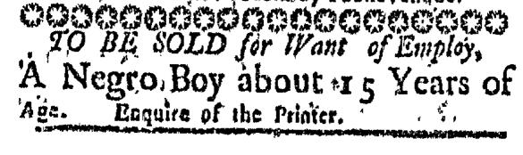 Aug 13 - Massachusetts Gazette Slavery 1