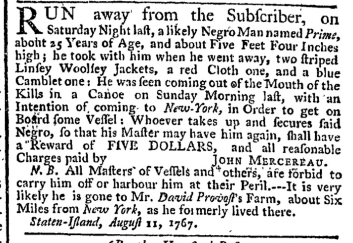 Aug 13 - New-York Gazette Weekly Post-Boy Slavery 1