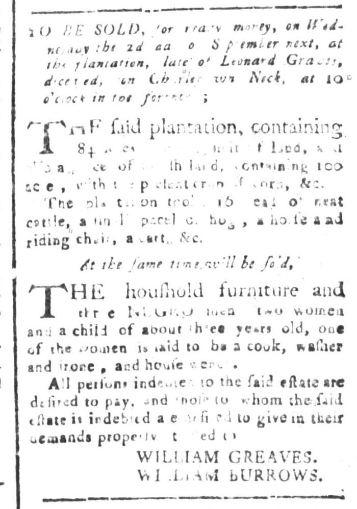 Aug 21 - South-Carolina and American General Gazette Slavery 2