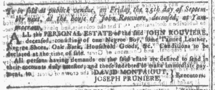 Aug 26 - Georgia Gazette Slavery 1