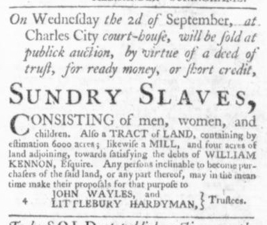 Aug 27 - Virginia Gazette Slavery 3