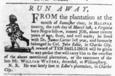 Aug 27 - Virginia Gazette Slavery 5