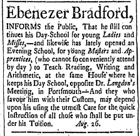 Aug 28 - 8:28:1767 New-Hampshire Gazette