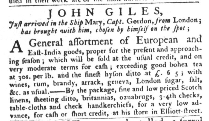 Aug 4 - 8:4:1767 South-Carolina Gazette and Country Journal