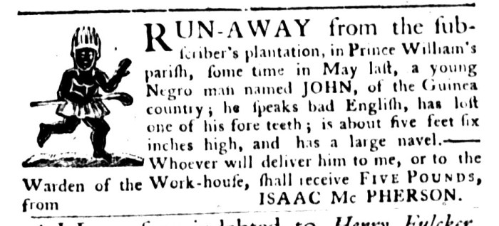 Sep 1 - South-Carolina Gazette and Country Journal Supplement Slavery 2
