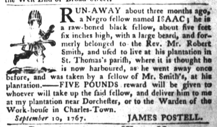 Sep 15 - South-Carolina Gazette and Country Journal Slavery 3