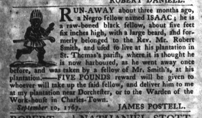 Sep 22 - South-Carolina Gazette and Country Journal Slavery 9