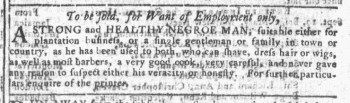 Sep 23 - Georgia Gazette Slavery 6