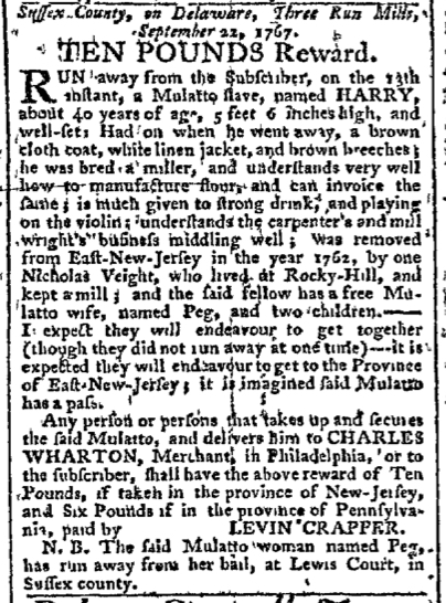 Sep 28 - Pennsylvania Chronicle Slavery 1