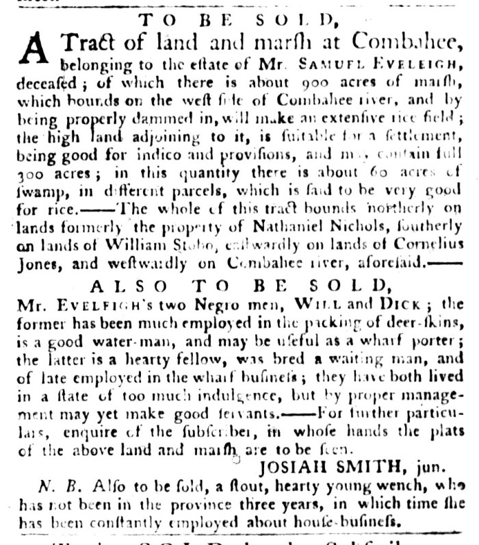 Sep 29 - South-Carolina Gazette and Country Journal Slavery 1