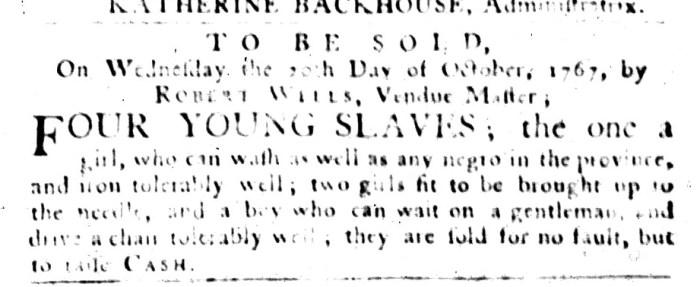 Sep 29 - South-Carolina Gazette and Country Journal Slavery 2