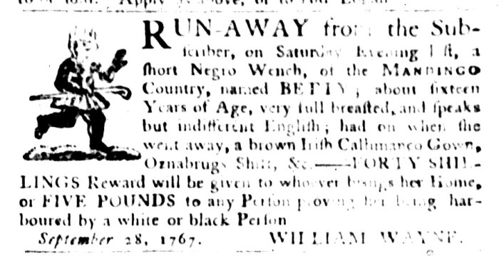 Sep 29 - South-Carolina Gazette and Country Journal Slavery 3
