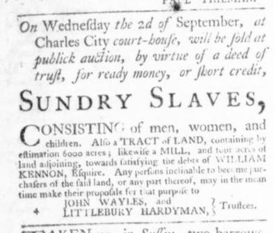 Sep 3 - Virginia Gazette Slavery 3