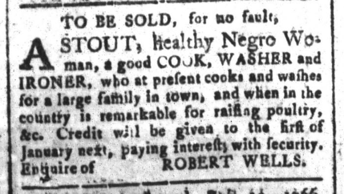Oct 9 - South-Carolina and American General Gazette Slavery 5